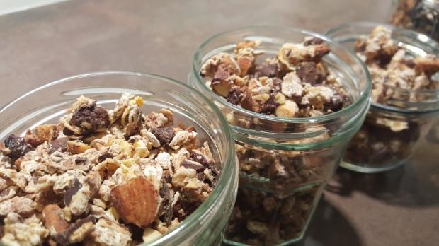 Crunchy granola choco amandes