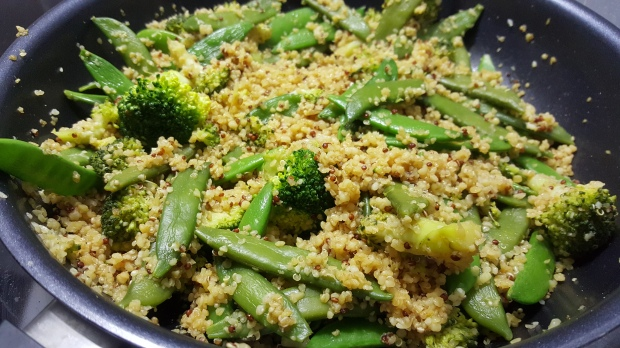 Quinoa boulgour brocolis poids gourmand