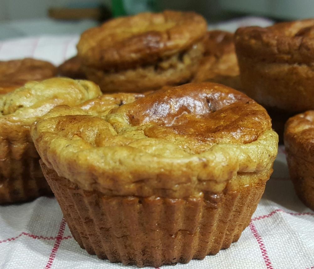 Muffin allege sans matiere grasse chocolat banane