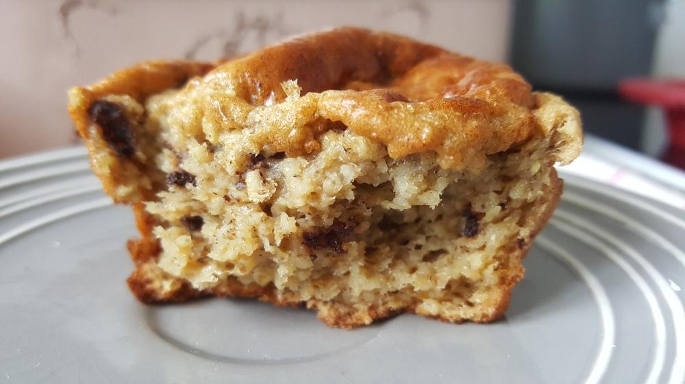 Muffin healthy banane chocolat