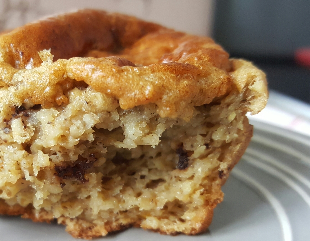 Muffin sains banane chocolat sans beurre