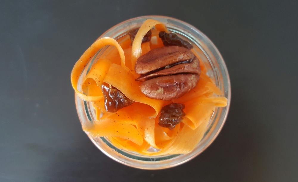 Porridge aux graines de chia erable carotte
