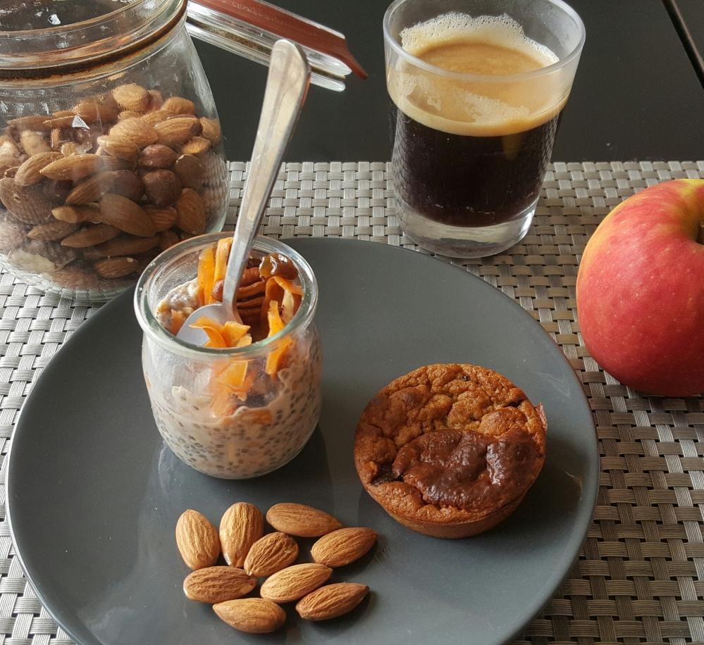 Porridge chia facon carrot cake