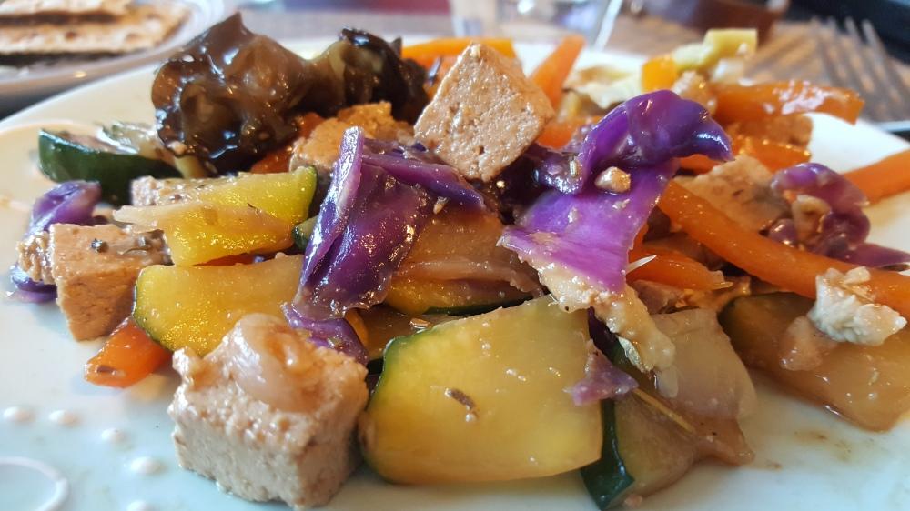 Tofu yakitori aux legumes