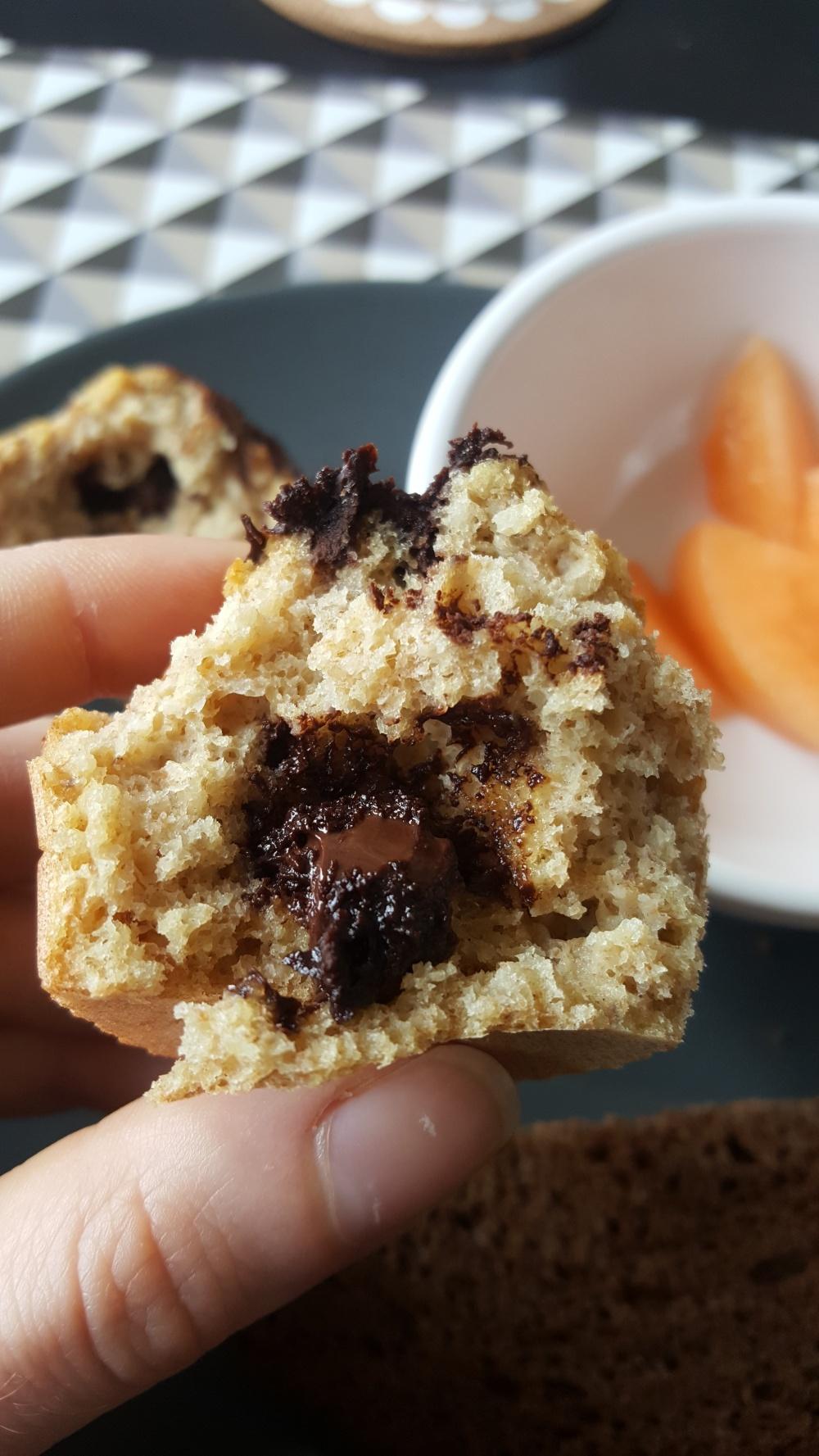Muffin banane chocolat sans beurre